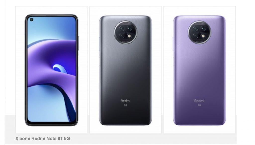 ها هو الهاتف الذكي Redmi Note 9T 5G